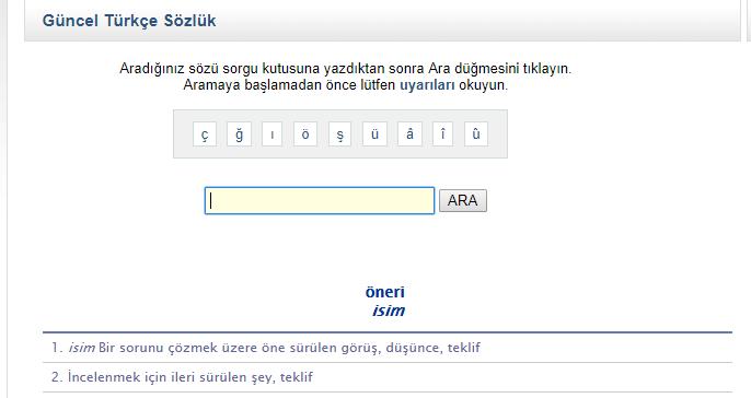 Resmi Türk Dil Kurumu TDK Web sitesinden yararlanarak anahtar kelimenizin eş anlamlarını bul