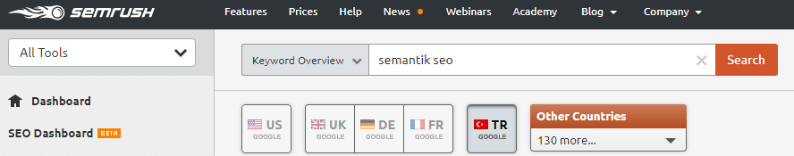 lsi Semantik Seo Tekniği Semrush İle Anahtar Kelime Araştırması Yapma yarar.